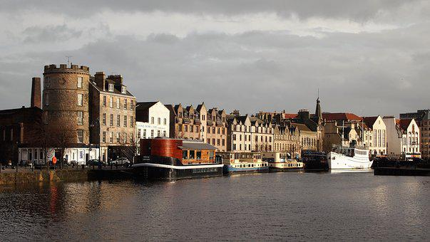 Edinburgh, Leith, Scotland, Port, Ship, Water, Pier