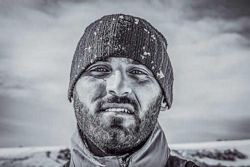 Hiker, Winter, Snow, Nature, Landscape, Travel