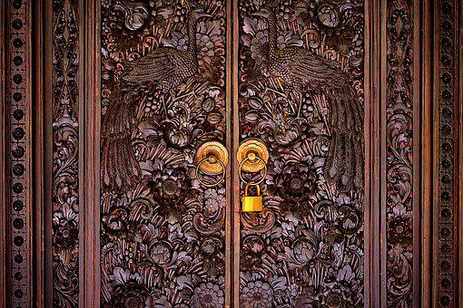 Door, Wood, Wooden, Old, Indonesia, Bali, Architecture
