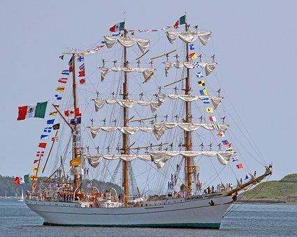 Tall Ship, Halifax, Nova Scotia, Canada, Boat, Ocean