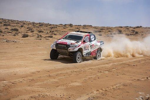Dakar, Competition, Cars, Hilux, Toyota, Race, Desert