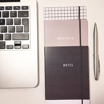Laptop, Business, Diary, Notes, Books, Notepad