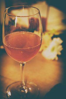 Glass, Wine Glass, Drink, Alcohol, Rose, Red Wine