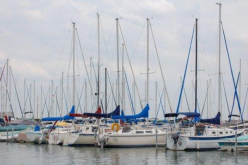 Marina, Sailboats, Sailing, Boat, Harbor