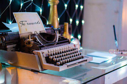 Machine Writing, Decoration, Event, Retro, Letters