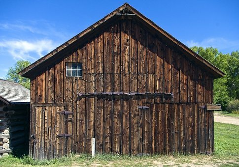 Nevada City Building, Montana, Rustic, Building, Old