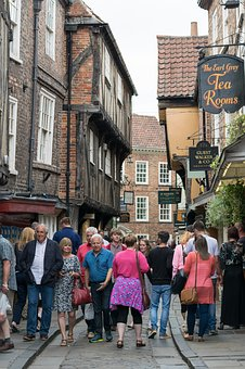 York, People, Ancient, Timbered, Walking, Exploring