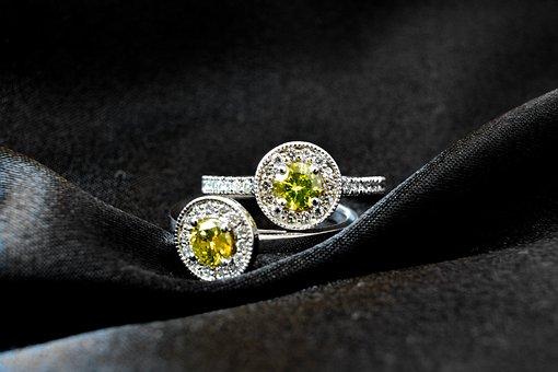 Diamond, Yellow, Gold, Ring, Precious, Jewellery