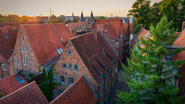 Houses, Roofs, Building, Architecture, City, Window