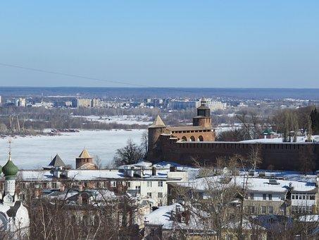 Russia, Nizhniy Novgorod, Sky, Architecture