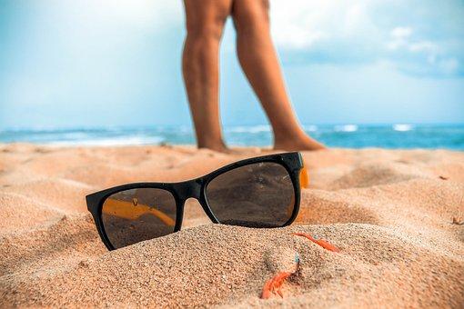 Lenses, Sun, Beach, Landscape, Lens, Sky, Sunglasses