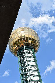 Knoxville, Downtown, Skyline, Sun Sphere