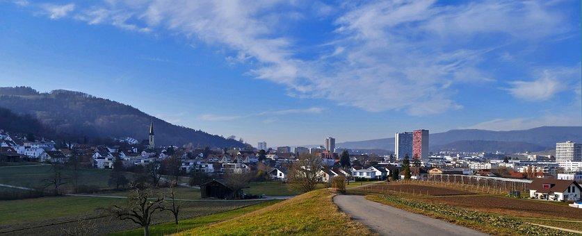 Landscape, Wide, Limmattal, Spreitenbach, Switzerland