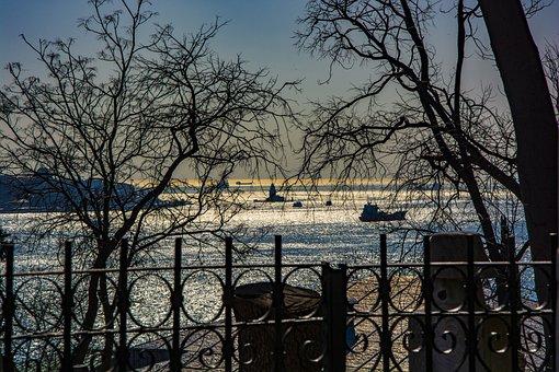 Istanbul, Sunset, Sky, Landscape, Travel, Marine