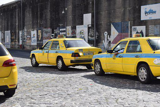 Taxi, Auto, Yellow, Traffic, Road, Retro