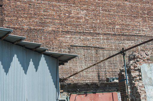 Building, Wall, Industrial Zone, Brick, Old, History