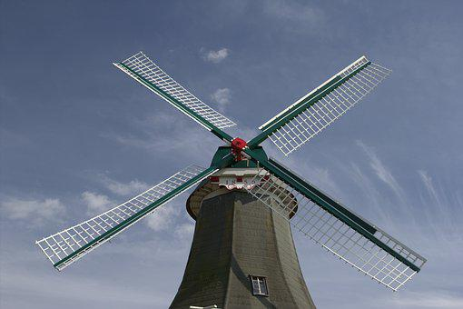 Windmill, Sky, Vacations, Aurich, Wind, Mill