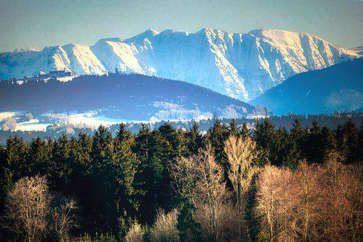 Mountains, Snow, Winter, Alpine, Landscape, Nature