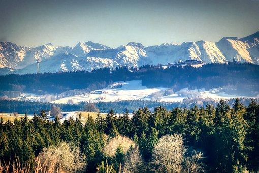 Alpine, Panorama, Mountains, Nature, Summit, Scenic