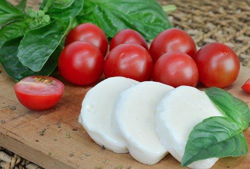 Mozzarella, Tomato, Basil, Cheese, Fresh Mozzarella