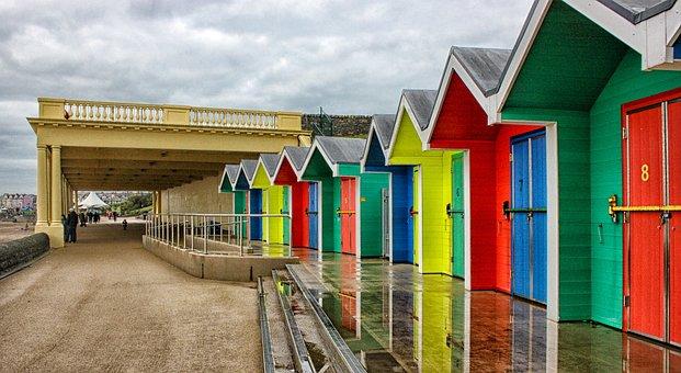 Barry Island, Beach Huts, Promenade, Shelter, Shelters