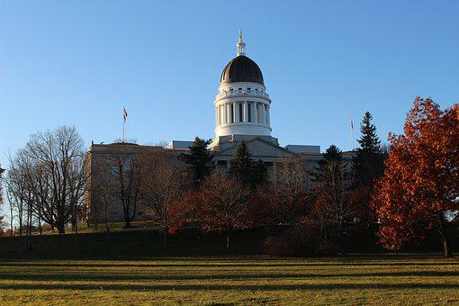 Maine, Augusta, Capitol, State, Government, Building