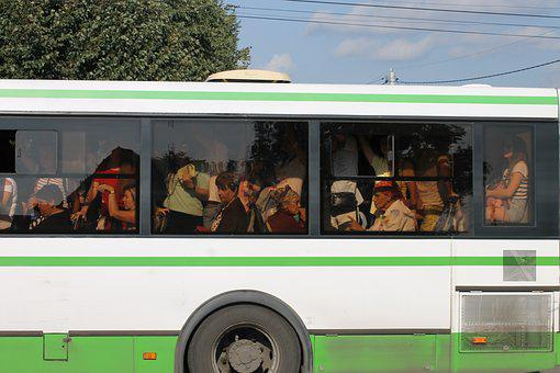 Bus, Passengers, Filled With, Jam, Transport