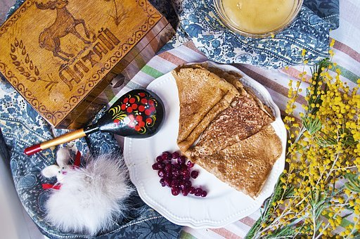 Carnival, Mimosa, Russia, Pancakes, Cranberries