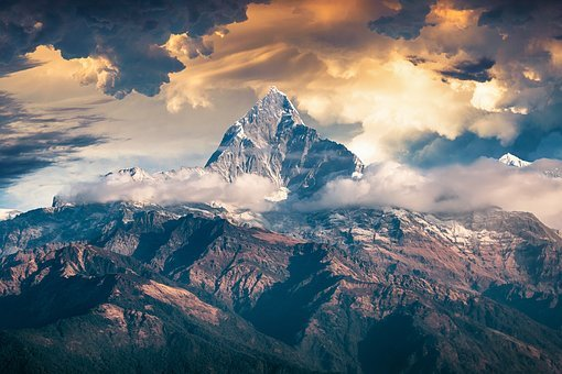 Landscape, Mountain, Clouds, Storm, Sky, Scenic, Summit