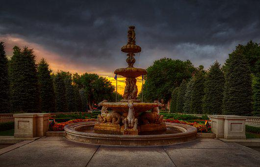 Water Fountain, Broadmoor Hotel, Colorado Springs