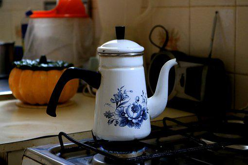 Teapot, Container, Kitchen, Heat Up, Boil, Jar