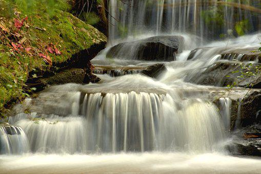 Waterfall, Nature, Cascade, Scenic, Outdoors, Flowing