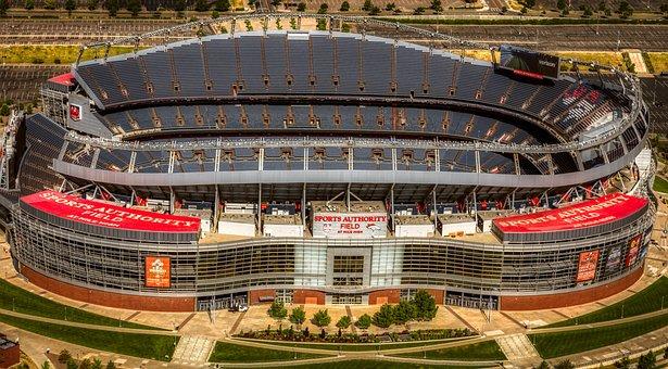 Mile High Stadium, Football Stadiums, Aerial View