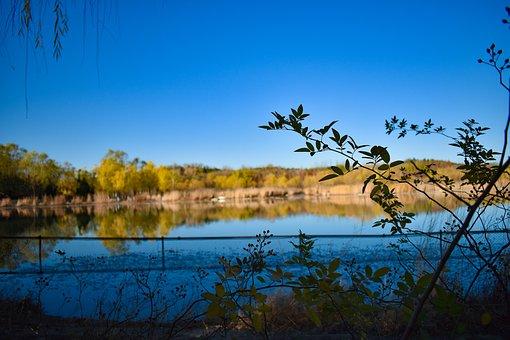 Lake, Autumn, Blue Sky, Sky, Outdoor, Park