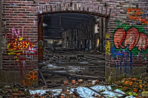 Lost Places, Factory, Hall, Atmosphere, Abandoned