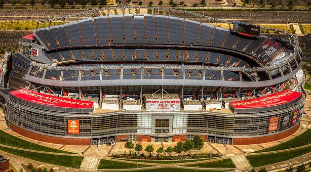 Mile High Stadium, Football Stadiums, Aerial View