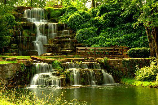Waterfall, Landscape, Nature, Cascade, Water, Scenic
