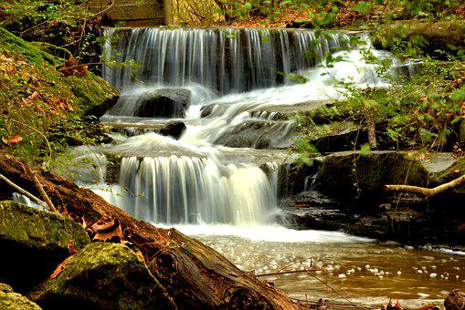 Waterfall, Landscape, Nature, Cascade, Scenic, Outdoors