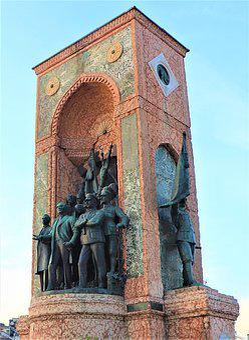 Sculpture, Monument, Taksim, Square, Soldier, Art