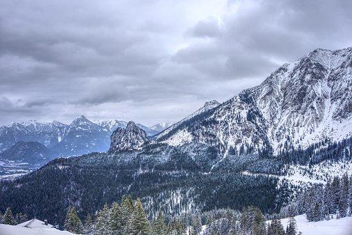 Mountains, Snow, Alpine, Füssen, Allgäu, Landscape