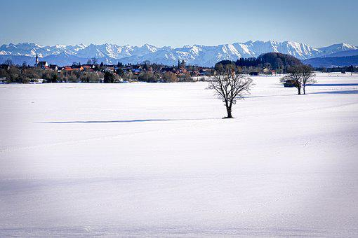 Snow, Field, Winter, Mountains, Panorama, Cold, Nature