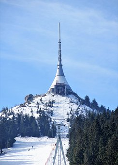 Ještěd, Transmitter, Mountain, Hotel, Liberec, Tv