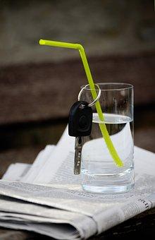 Water, Water Glass, Car Keys, Key, No Alcohol