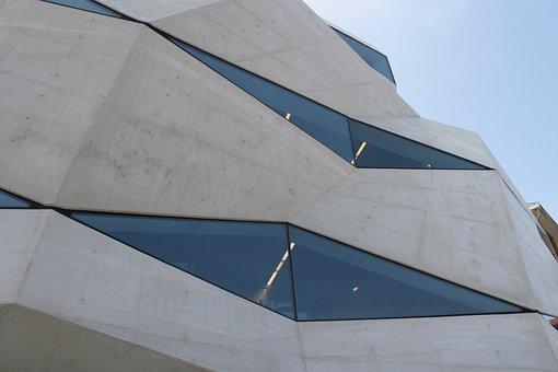 Oporto, Vodafone, Building, Windows, Architecture