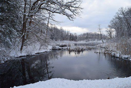 Snow, Winter, Cold, Nature, Landscape, Outdoors, Water