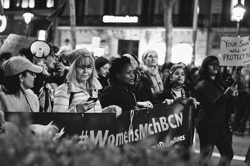 Barcelona, Women's Day, Gender, Respect, Rally