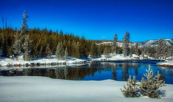 Yellowstone National Park, Wyoming, America, Winter