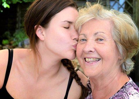 Girl, Young, Woman, Seniorin, Age, Pension, Skin