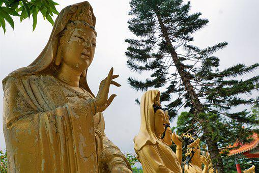 Sculpture, Gold, Buddha, Art, Statue