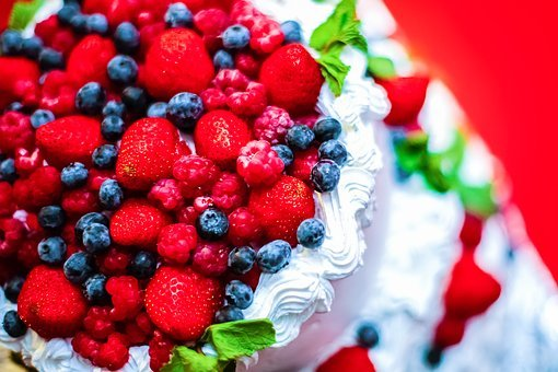 Berry, Cream, Cake, Dessert, Sweet, Kitchen, Yogurt
